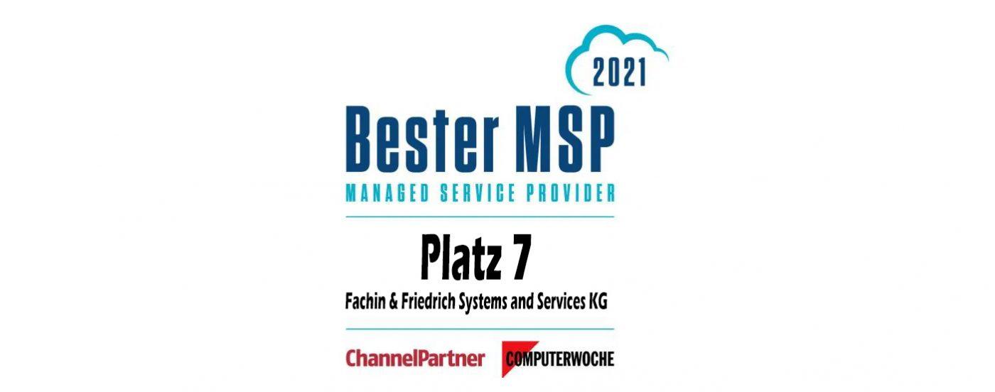 Bester MSP 2021 in OWL Fachin & Friedrich