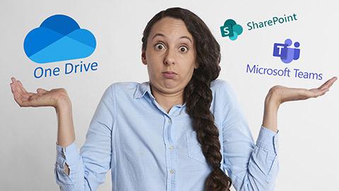 Vergleich OneDrive SharePoint Teams