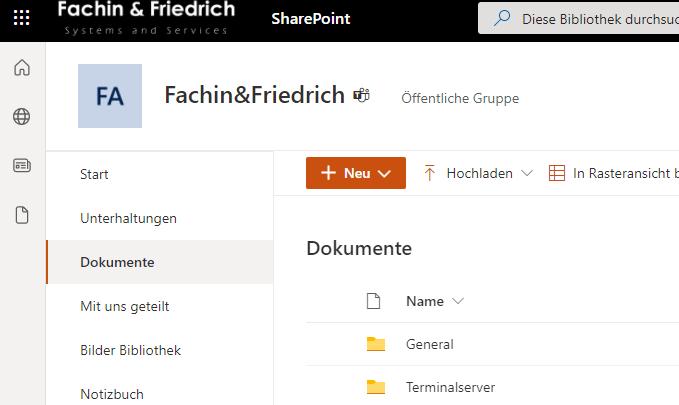 Microsoft SharePoint Beispiel